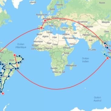 itinéraire tour du monde