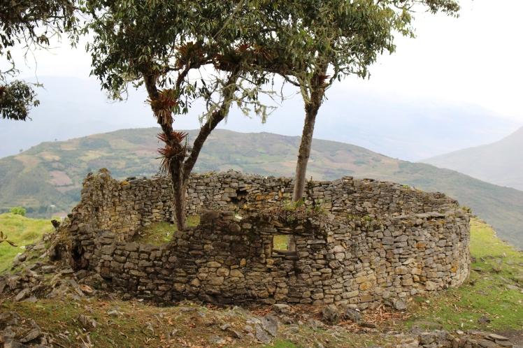 Détail d'une hutte circulaire de Kuelap