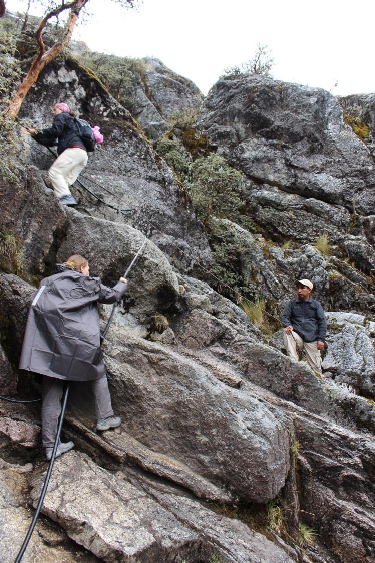2ème passage abrupt avec roche mouillée
