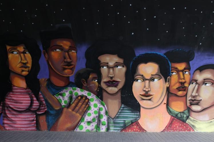 Fresque murale dans le quartier de Barranco