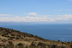Vue sur les glaciers depuis la isla del sol