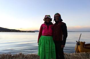 Steph et Flav devant le lac