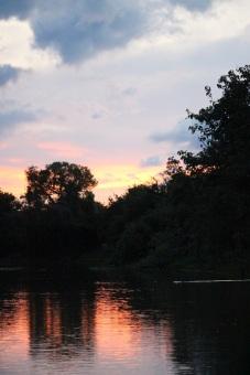 Rivière Yacuma au coucher du soleil