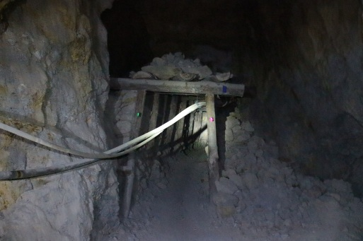Tunnel dans la mine