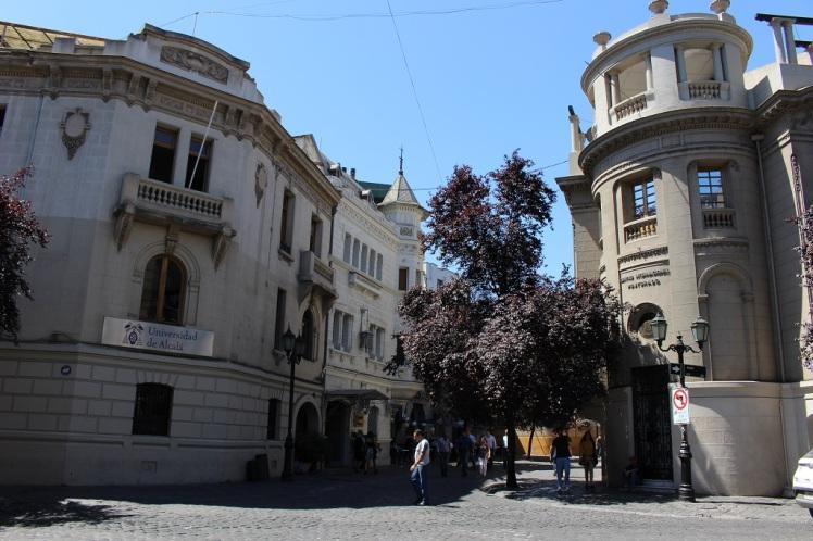 Les bâtiments du quartier Paris-Londres à Santiago