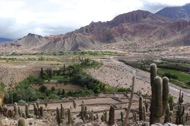 Vue depuis la Pucara dans la vallée