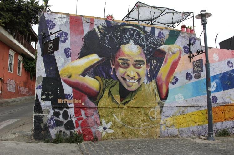 Fresque murale, cerro Concepcion