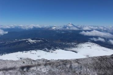 Vue depuis le sommet du volcan Villarica