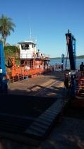 La barque sur le rio Parana