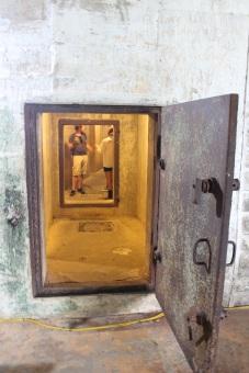 L'entrée du bunker