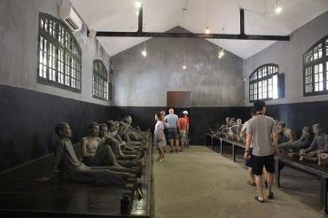 Les salles où étaient enfermés les prisonniers