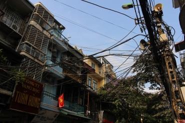 Les raccordement électriques dans Hanoi