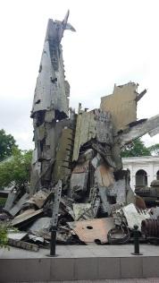 Les restes des avions de guerre