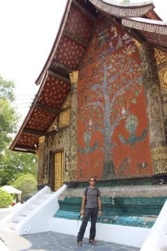 L'arrière de la chapelle du bouddha sacré