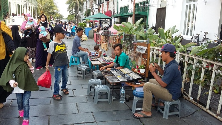 Des vendeurs de rue