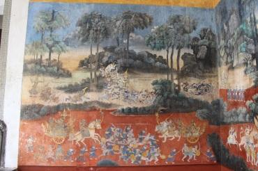 Une fresque dans l'une des cours