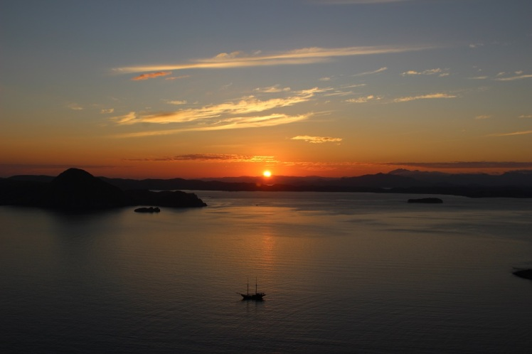 Lever de soleil sur Padar island