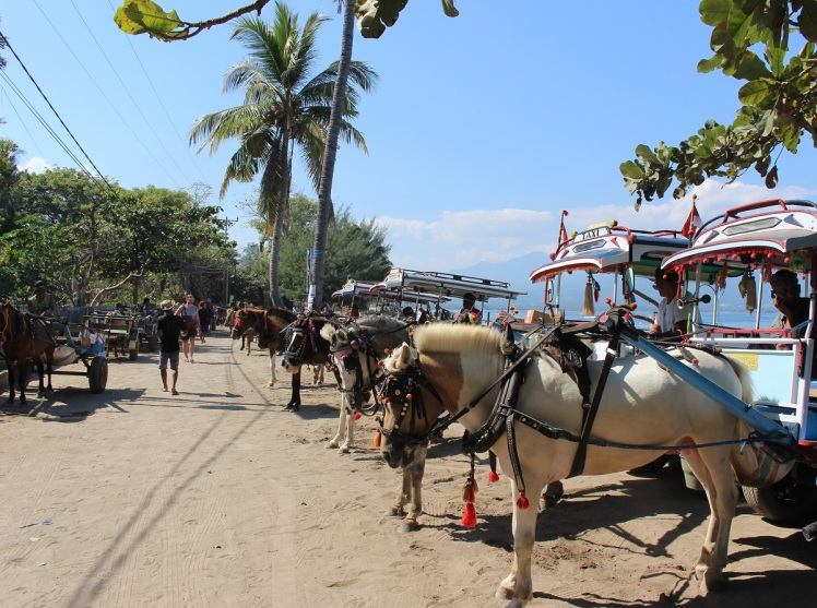 Le taxi local à l'embarcadère de Gili Air