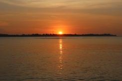 Le coucher de soleil sur Gili Meno
